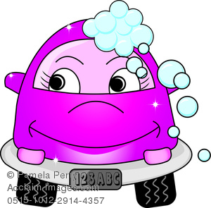 Car in automatic car wash clipart image transparent stock Clip Art Image of a Cute Cartoon Girl Car at the Car Wash ... image transparent stock