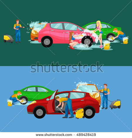Car in automatic car wash track clipart svg free library Auto Cleaning Stock Photos, Royalty-Free Images & Vectors ... svg free library