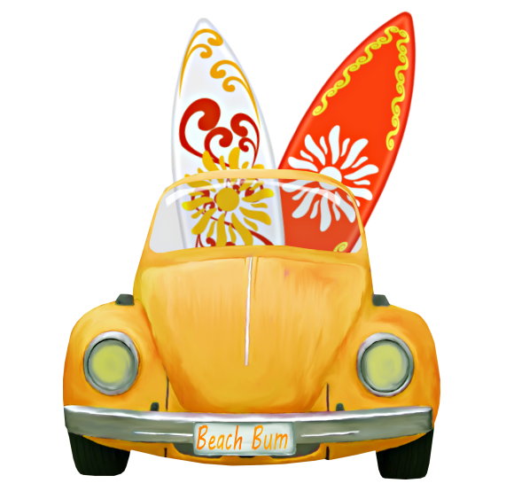 Honeymoon car clipart clipart library library Car and Surfboards.png | Pinterest | Clip art, Rock art and Scrapbook clipart library library