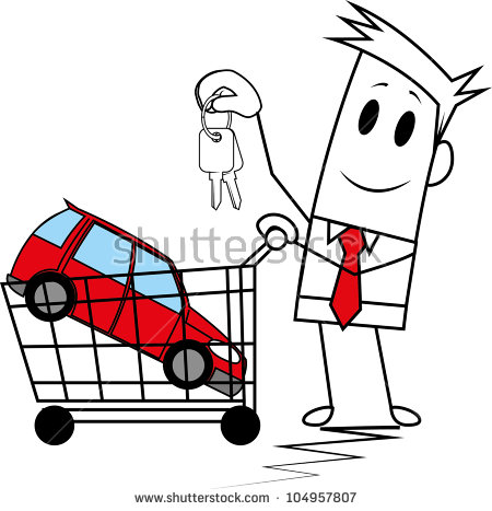 Car in shopping car clipart picture Pushing Car Stock Vectors, Images & Vector Art | Shutterstock picture
