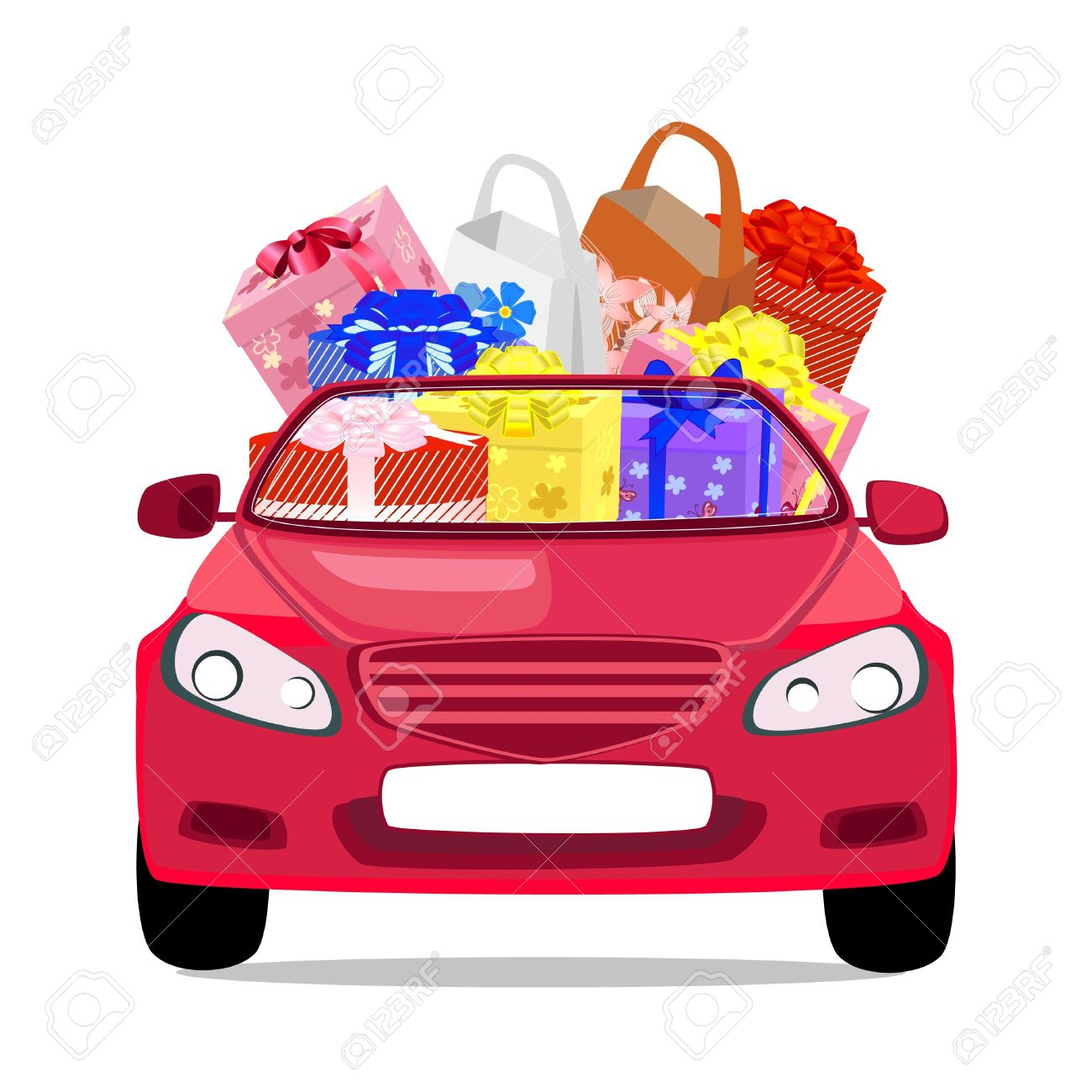 Car in shopping car clipart clipart royalty free Holiday Car With Gifts Royalty Free Cliparts, Vectors, And Stock ... clipart royalty free