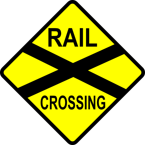 Cross the street clipart svg freeuse stock Caution Railroad Crossing Clip Art at Clker.com - vector clip art ... svg freeuse stock