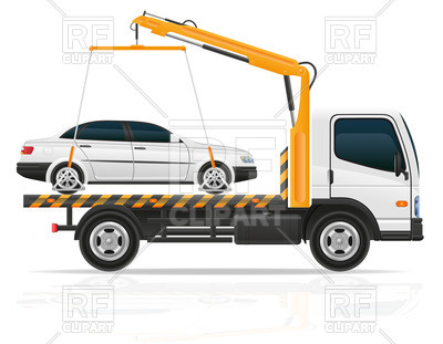 Car in tow car clipart vector library library Tow truck with small sedan car Vector Image #45338 – RFclipart vector library library