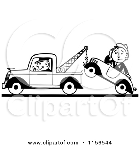 Car in tow car clipart banner black and white stock Royalty-Free (RF) Tow Clipart, Illustrations, Vector Graphics #1 banner black and white stock