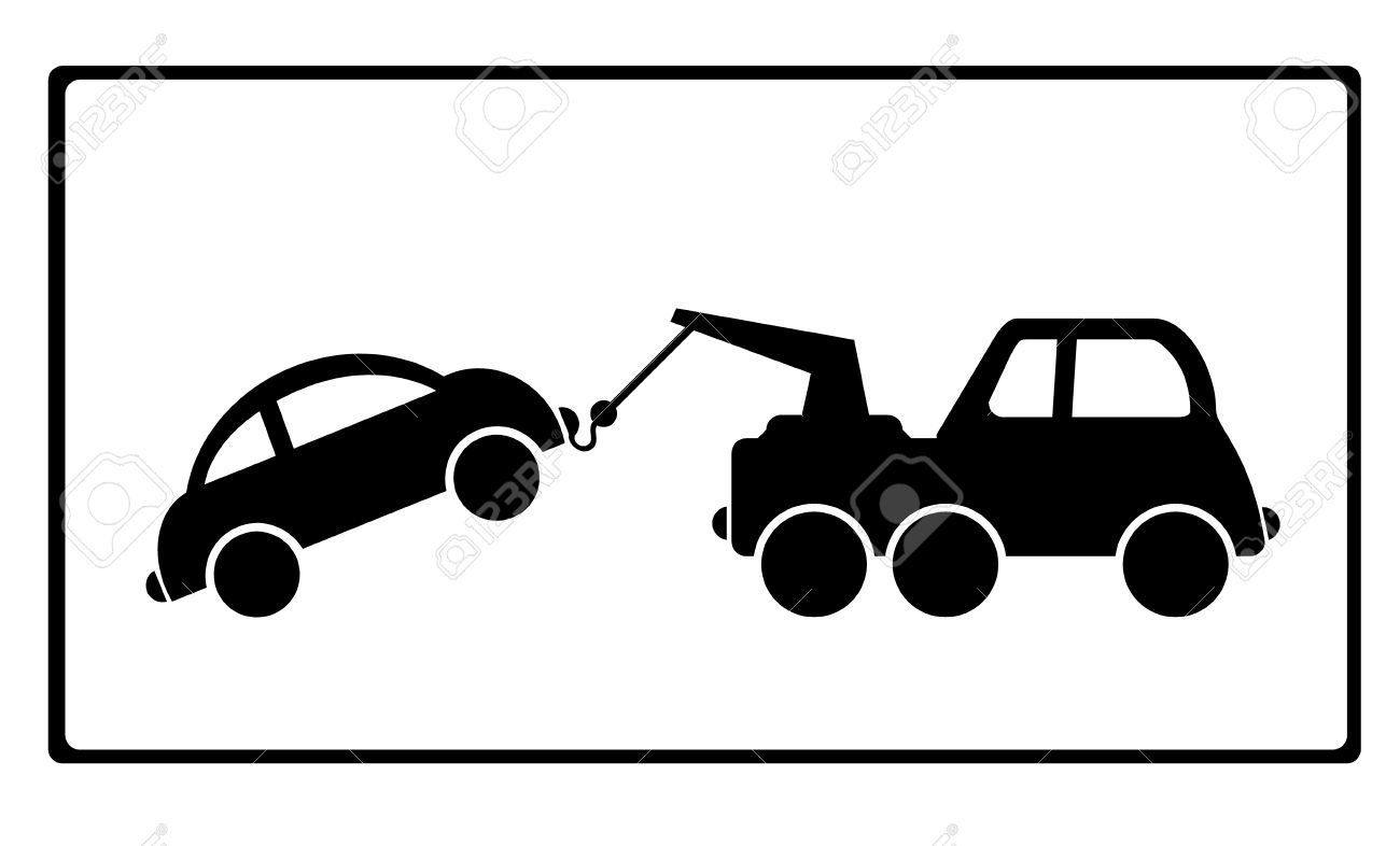 Car in tow car clipart graphic transparent Towing A Car With Vehicle Breakdown Royalty Free Cliparts, Vectors ... graphic transparent