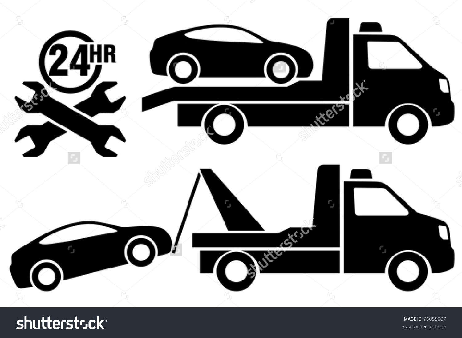 Collection truck clip art. Car in tow car clipart