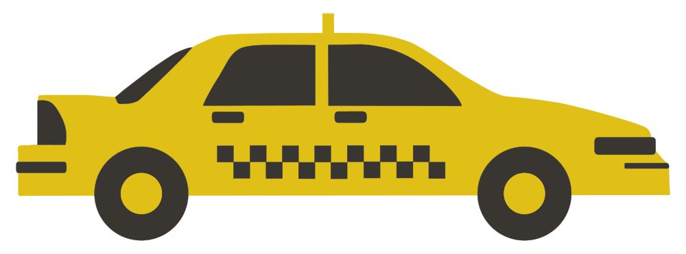 Taxi car clipart svg transparent library OnlineLabels Clip Art - New York Taxi Cab svg transparent library