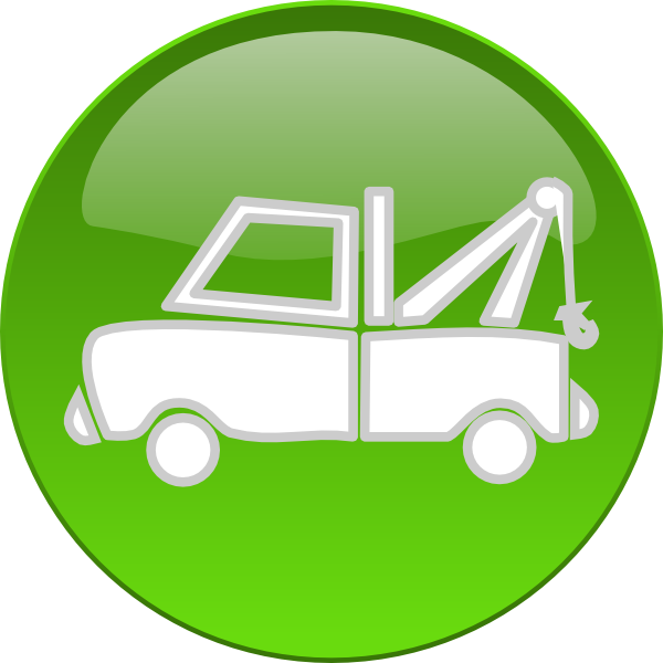 Car towing clipart vector library download Tow Truck Button Clip Art at Clker.com - vector clip art online ... vector library download