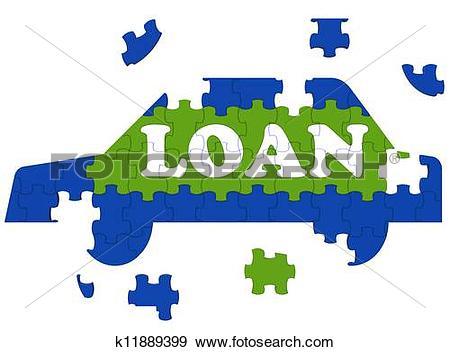 Car loan clipart banner transparent Stock Illustration of Car Loan Means Auto Finance k11889399 ... banner transparent