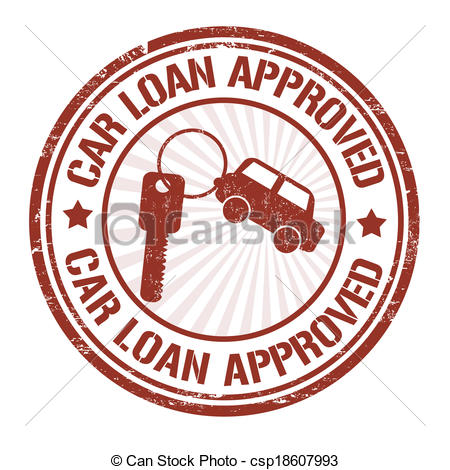 Car loan clipart graphic library stock EPS Vectors of Car loan approved stamp - Car loan approved grunge ... graphic library stock