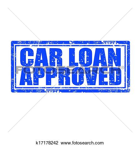 Car loan clipart svg library Clipart of Car Loan Approved-stamp k17178242 - Search Clip Art ... svg library