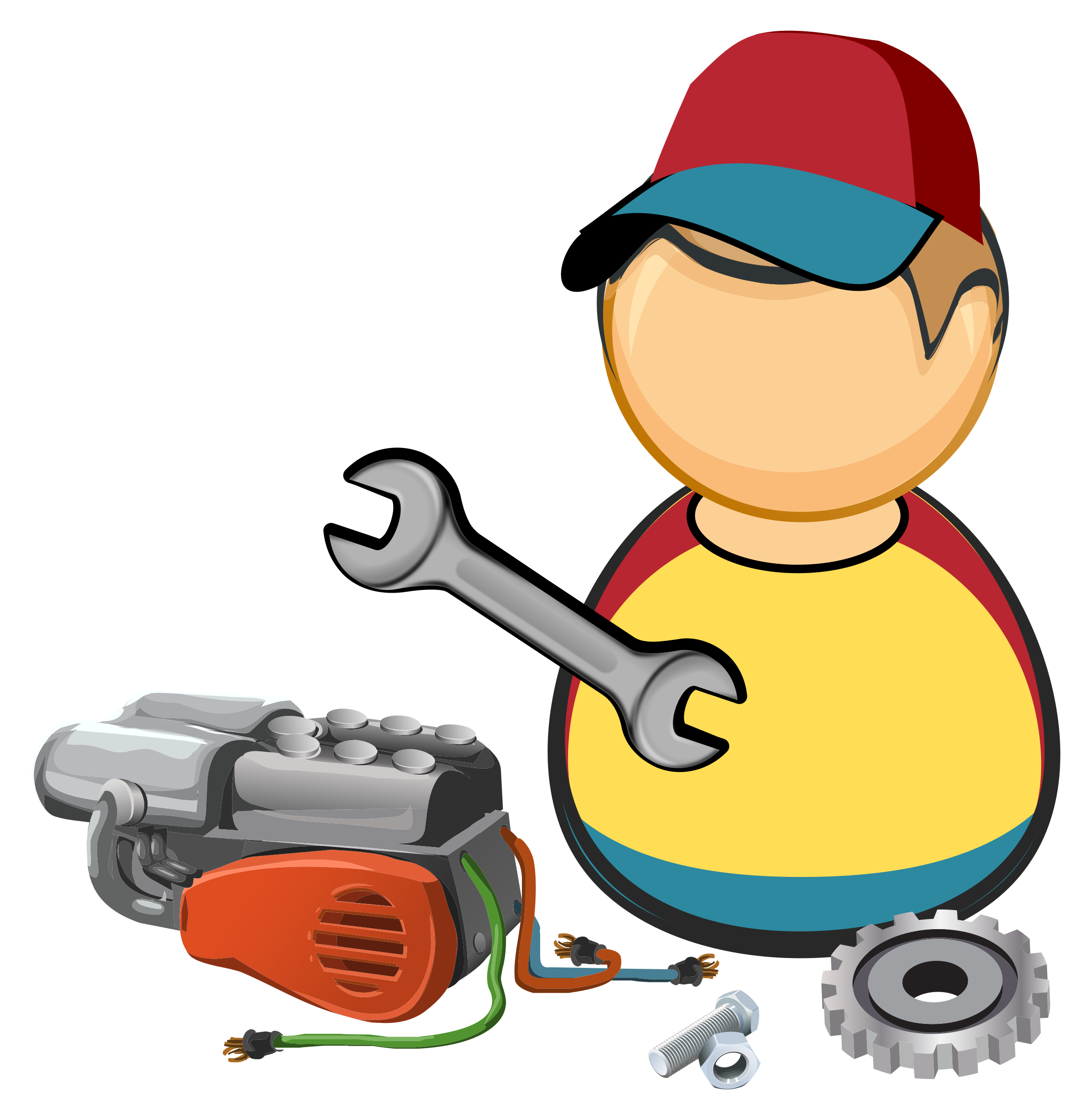 Car mechanics clipart svg royalty free Clipart - Car / automotive mechanic svg royalty free