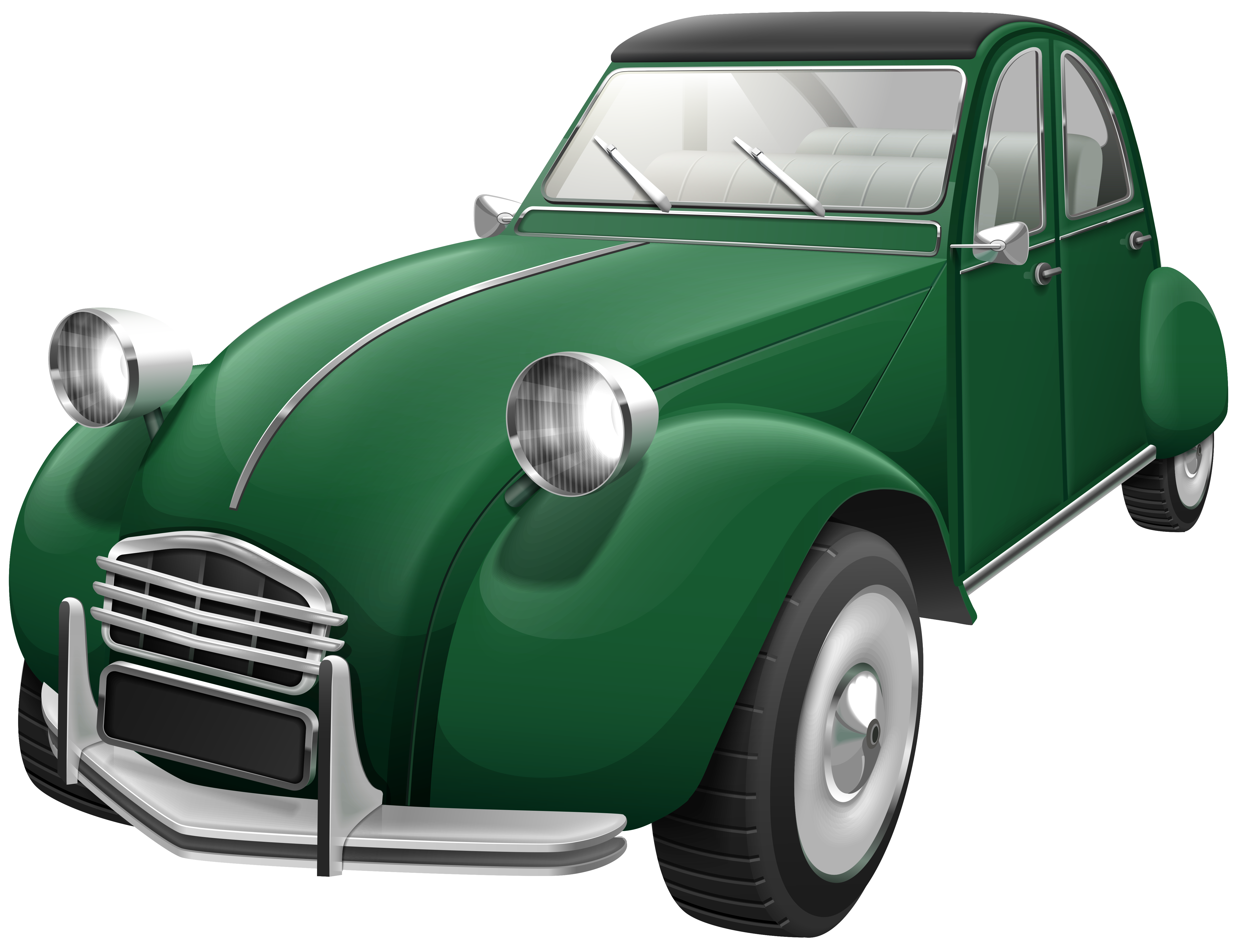 City car clipart banner freeuse stock Green Retro Car PNG Clip Art - Best WEB Clipart banner freeuse stock