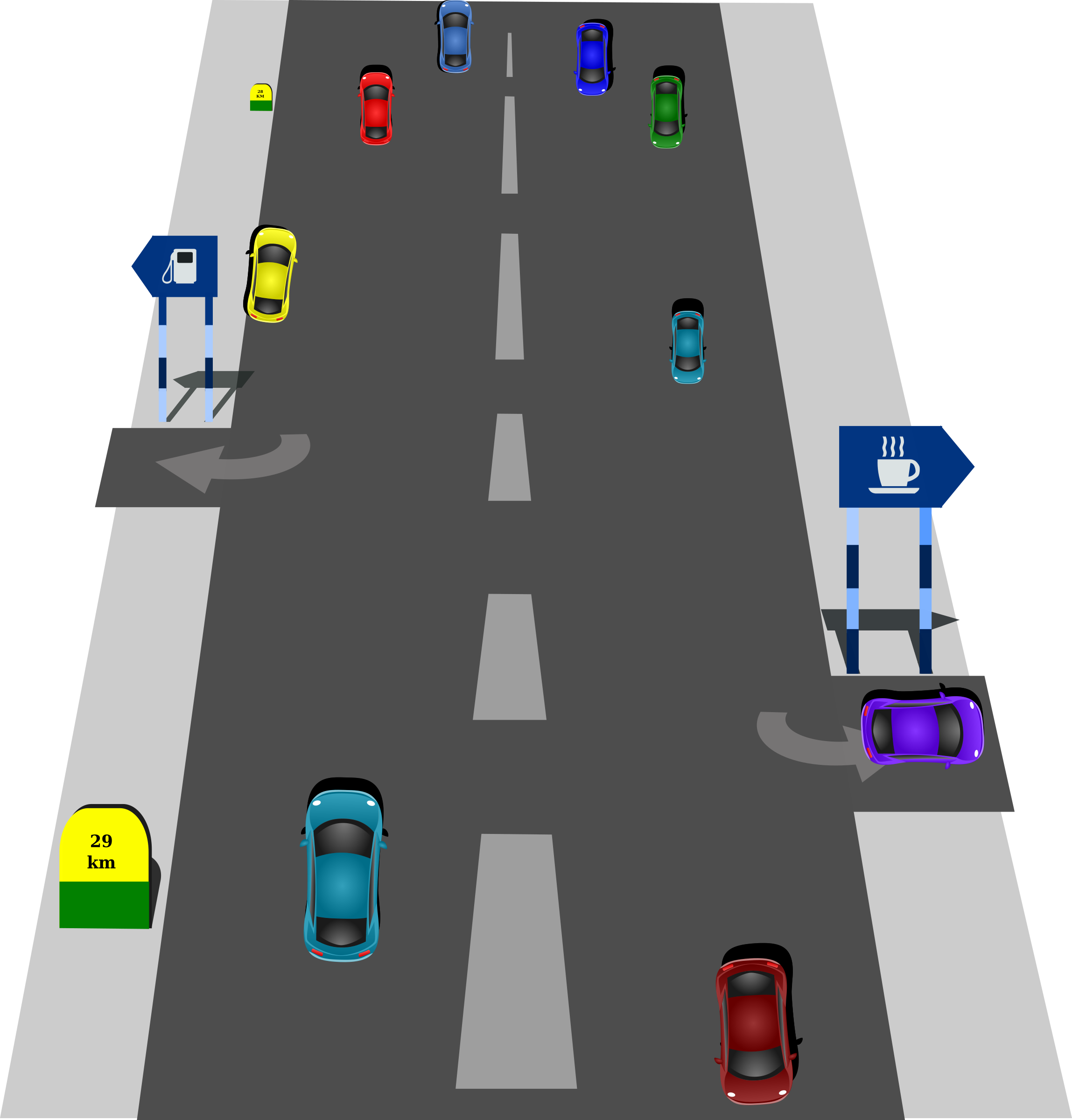 Car on road clipart banner stock Clipart - Road banner stock