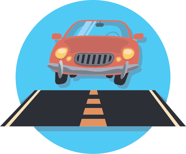 Clipart - Car And Road Icon vector freeuse