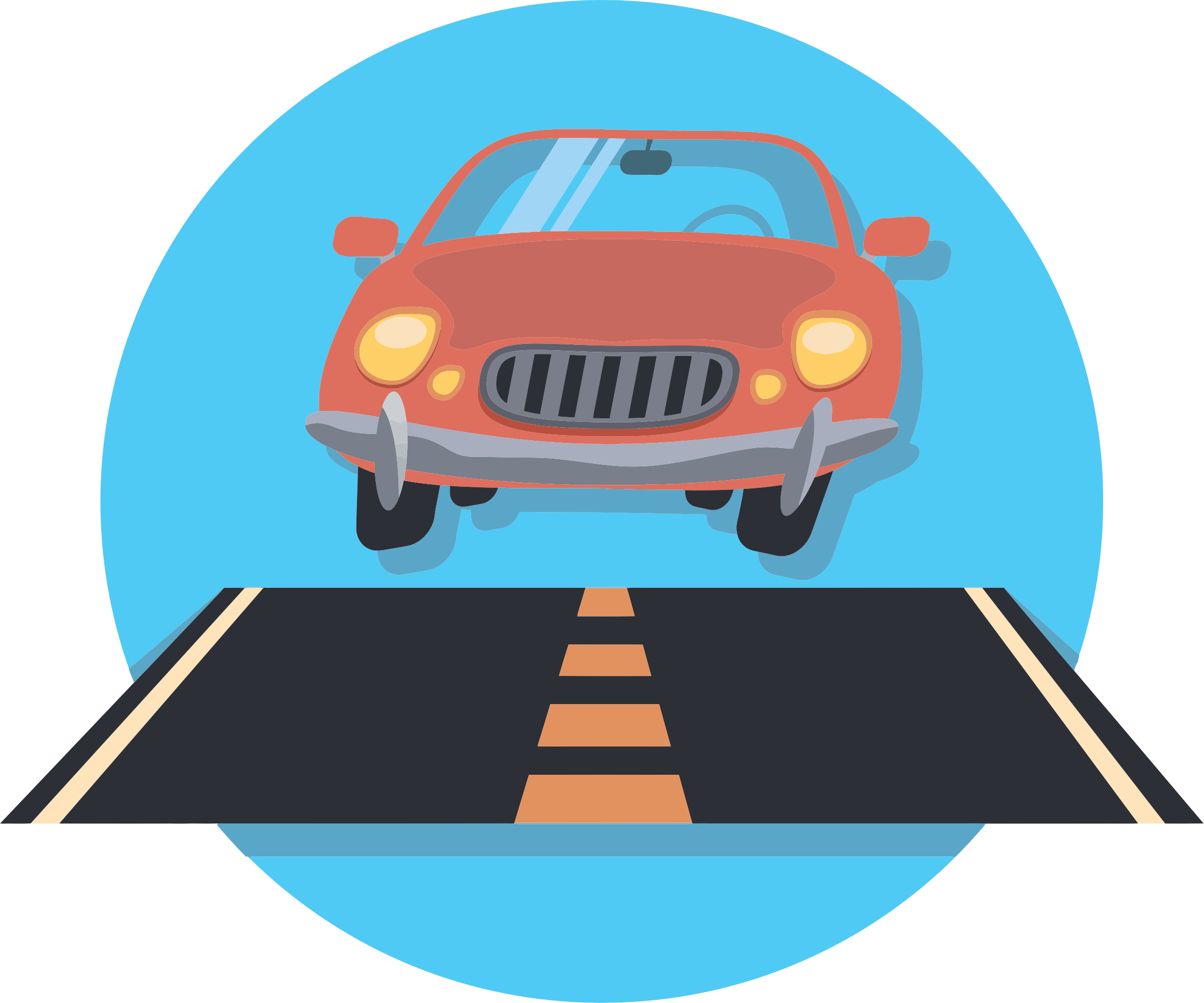 Cross street clipart clip royalty free library Car on a road clipart clip royalty free library