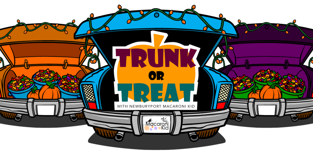 Trunk or treat car clipart