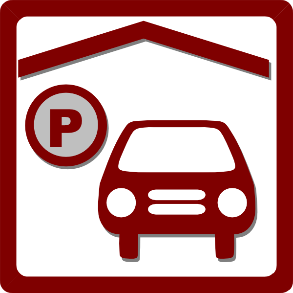 Car parking clipart image free Hotel Icon Indoor Parking - Red Clip Art at Clker.com - vector clip ... image free