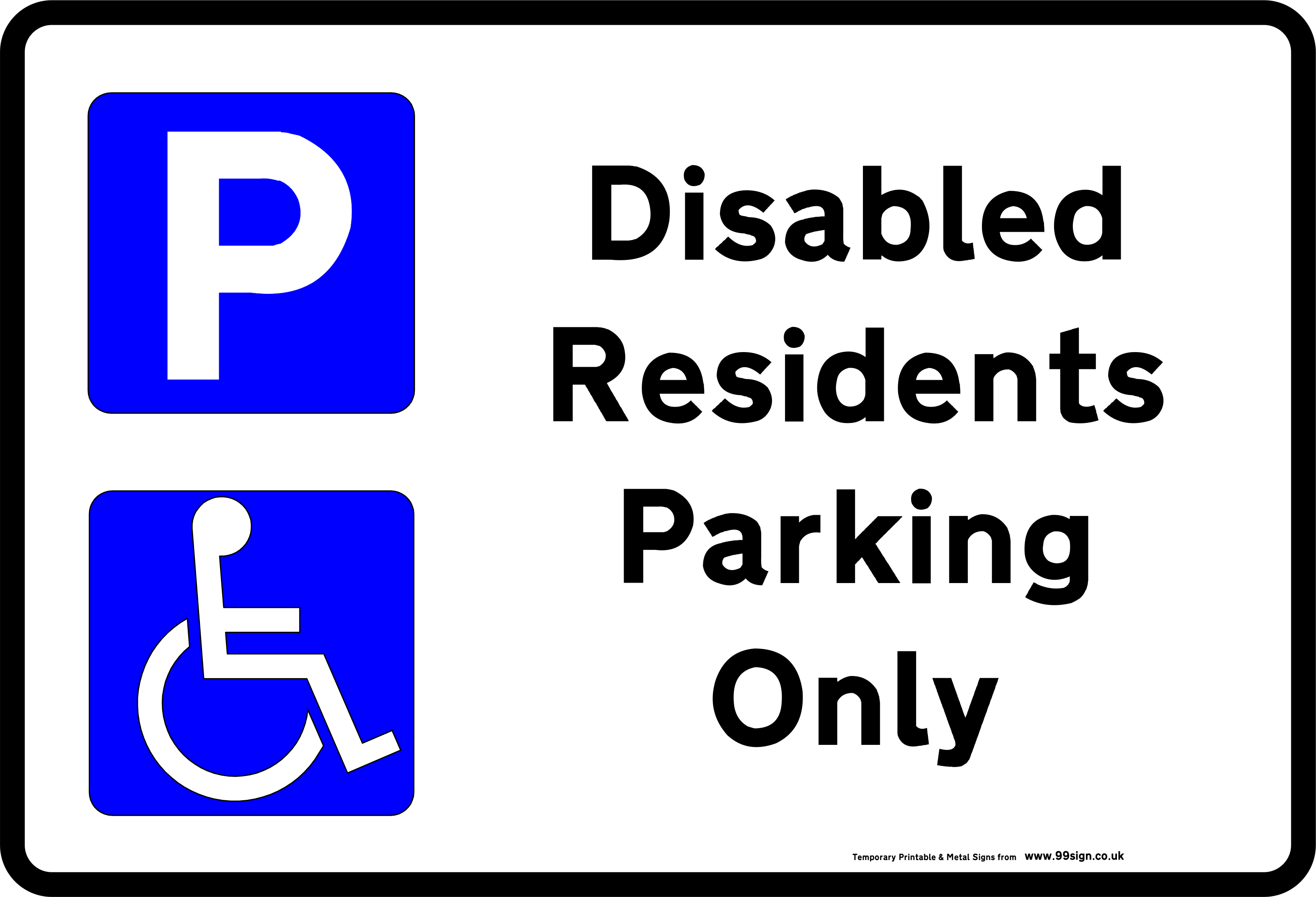 Car parking clipart clip art royalty free download Printable Disabled Parking Sign free template for Residents clip art ... clip art royalty free download