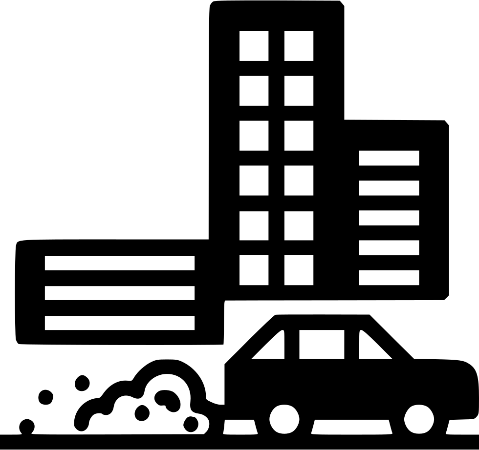 Car pollution clipart svg black and white library Air Pollution PNG Black And White Transparent Air Pollution Black ... svg black and white library
