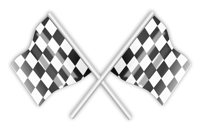 Car race flags clipart clip art black and white library Free Clipart: Racing Flag | Flags | gnokii | T-Clip Art | Pinterest ... clip art black and white library