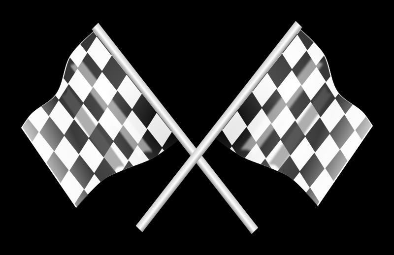 Car race flags clipart