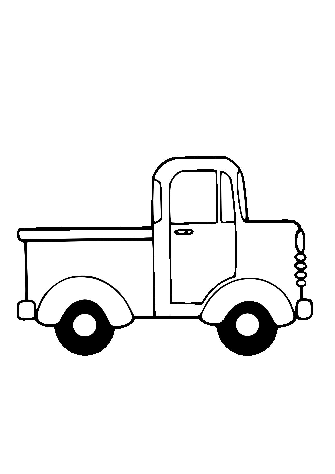 Car radio clipart black and white vector royalty free Truck Black White Line Art Christmas Xmas Toy Scalable Vector ... vector royalty free