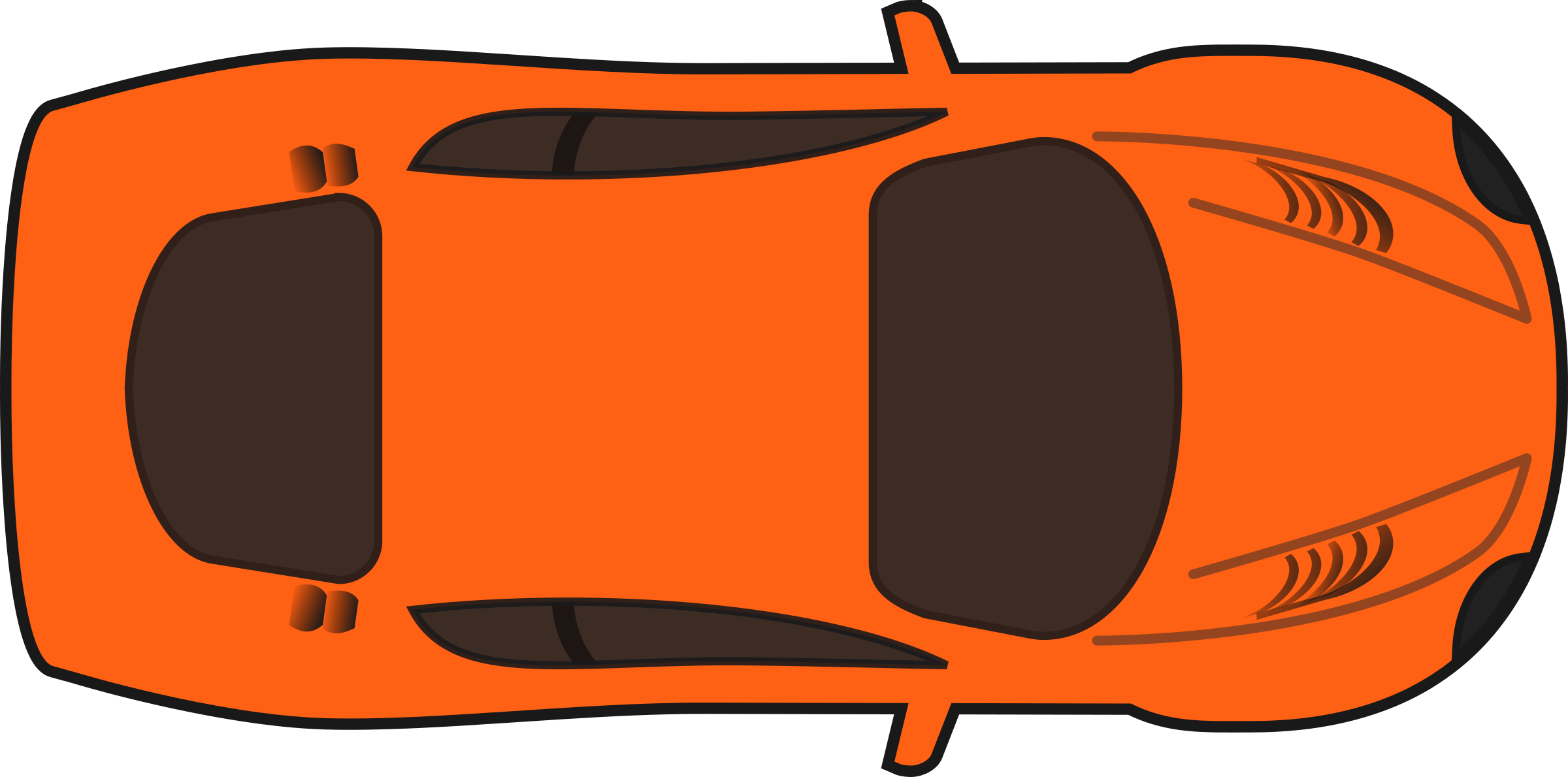 Top down car clipart svg free Clipart - Orange Racing Car (Top View) svg free