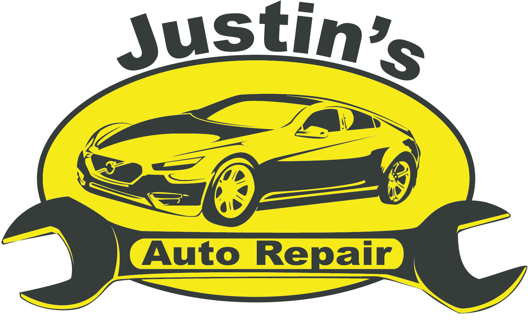 Car repair clipart free clipart black and white Our History | Justin's Auto Repair clipart black and white
