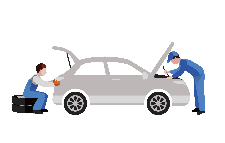 Car repair clipart free black and white library Car Daihatsu Automobile repair shop Auto mechanic - Car repair shop ... black and white library