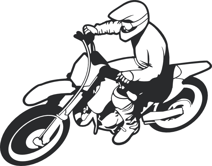 Car rider clipart svg royalty free Dirt Bike Clipart Black And White | Free download best Dirt Bike ... svg royalty free