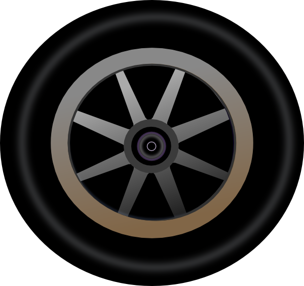 Car tires clipart graphic download Wheel 4 Clip Art at Clker.com - vector clip art online, royalty free ... graphic download