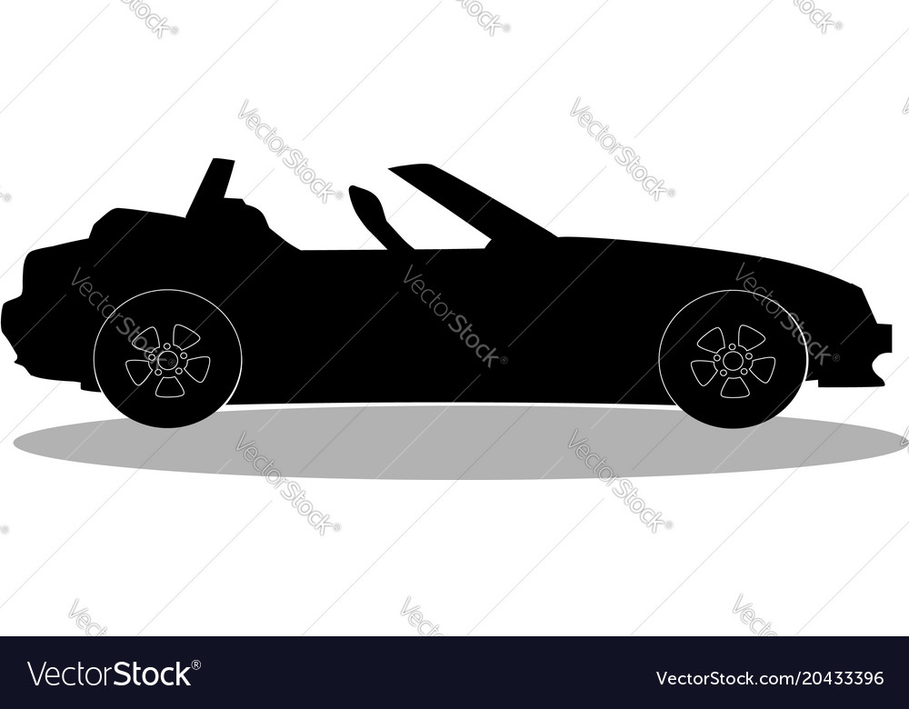 Car roof clipart image free Sport car without roof logo sign label clip art image free
