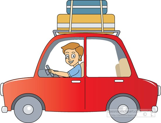 Car roof clipart graphic freeuse stock Traveling by car with suitcases on roof » Clipart Portal graphic freeuse stock