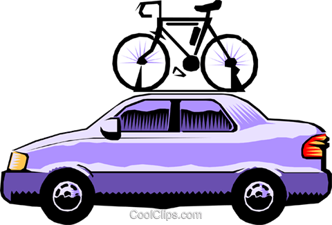 Car roof clipart freeuse Car with bicycle roof rack Royalty Free Vector Clip Art illustration ... freeuse