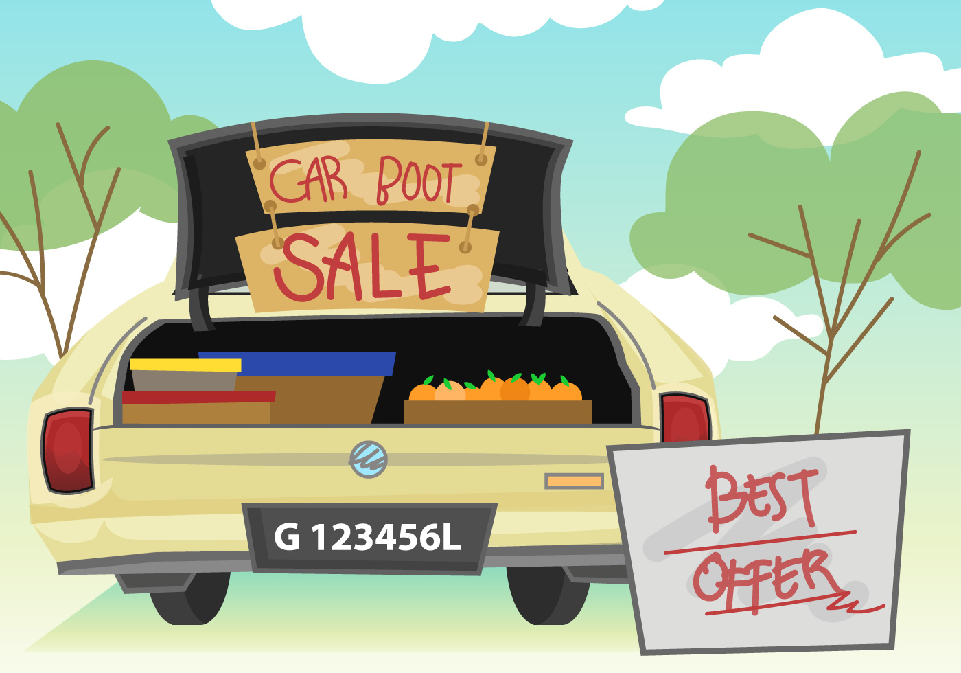 Car sale clipart clipart free stock Car Boot Sale Free Vector Art - (25 Free Downloads) clipart free stock