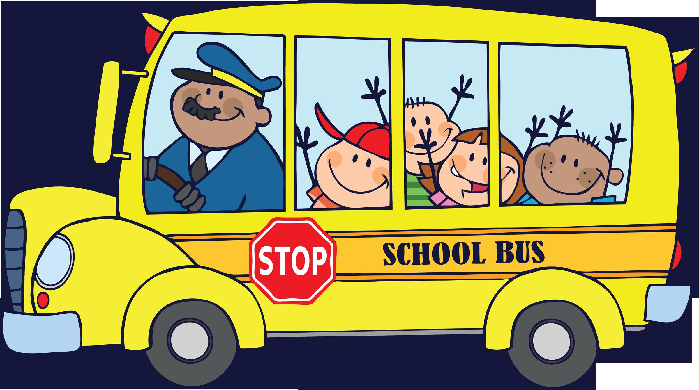 Car school pickup clipart clip art black and white School Bus Routes 2018-2019 | KVAK clip art black and white