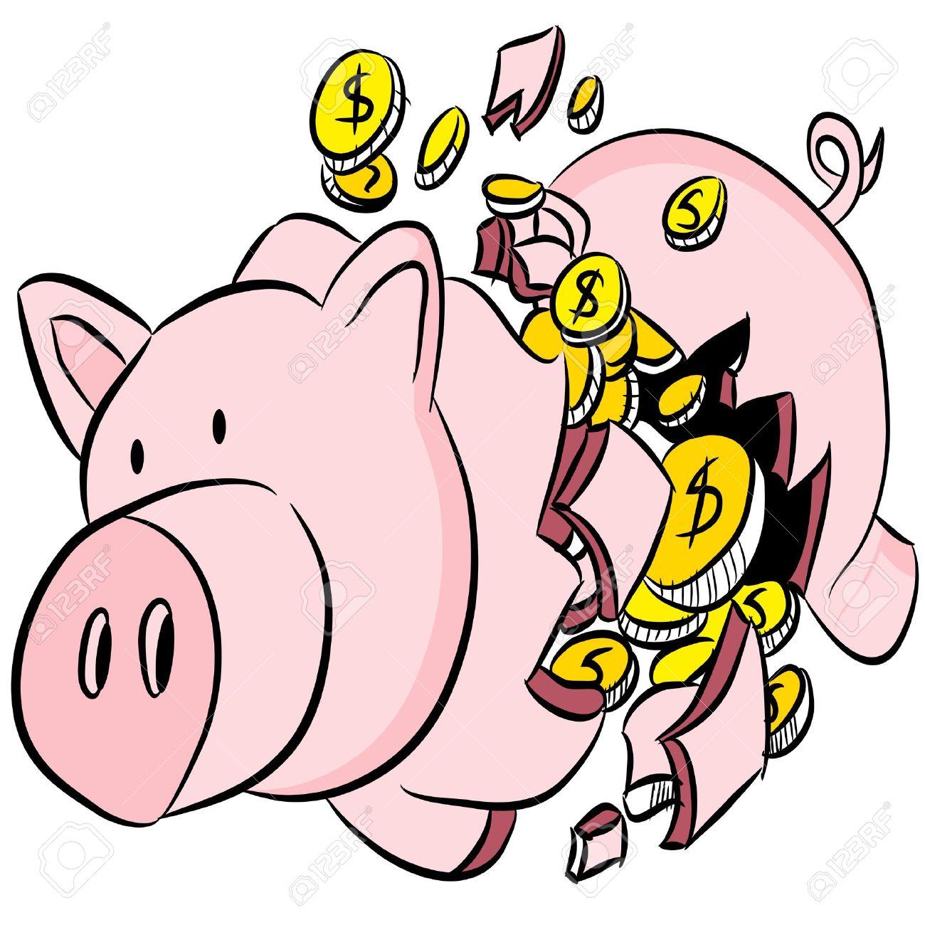 Car shaped piggy bank clipart vector library Broken piggy bank clipart - ClipartFox vector library