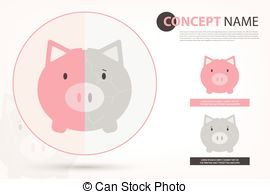 Car shaped piggy bank clipart clipart royalty free download Vector Illustration of Car shaped piggy bank, vector EPS10 ... clipart royalty free download