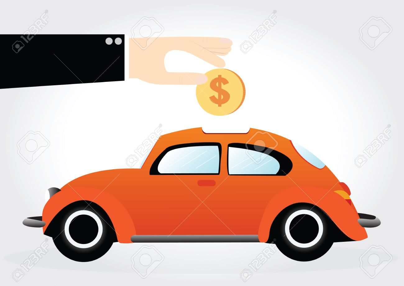 Car shaped piggy bank clipart banner library library Business Hand Saving Money In Car Shaped Piggy Bank Royalty Free ... banner library library