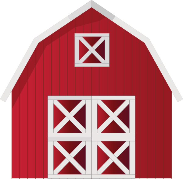Car shed clipart graphic black and white stock Red Barn Clip Art at Clker.com - vector clip art online, royalty ... graphic black and white stock