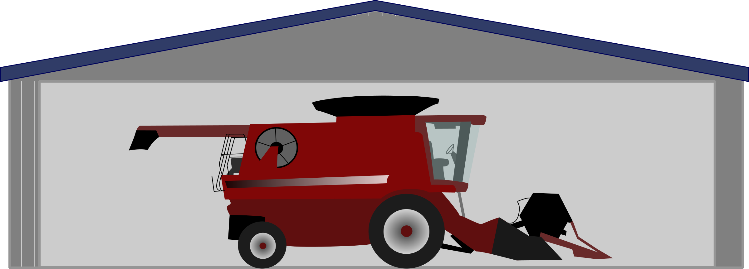 Car shed clipart clip free library Clipart - Combine harvester in shed clip free library