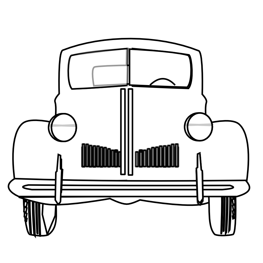 Old car vector clipart front view jpg royalty free download Car black and white vintage car clipart black and white clipartfox 2 ... jpg royalty free download