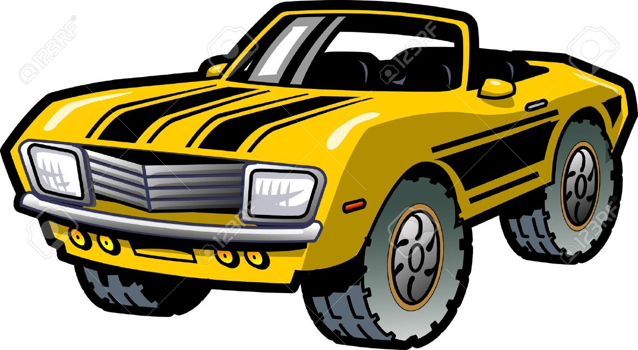 Car show muscle car clipart jpg black and white download Vintge car stripe clipart - ClipartFest jpg black and white download