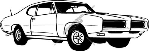 Car show muscle car clipart jpg black and white download Muscle car clipart - ClipartFest jpg black and white download