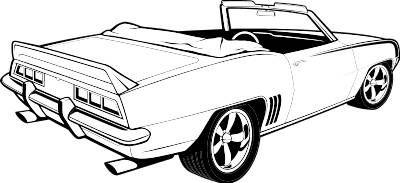 Car show muscle car clipart