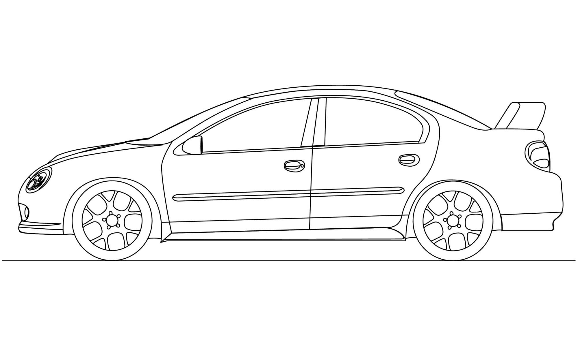 Car side profile clipart black and white black and white Car Side View Sketch at PaintingValley.com | Explore collection of ... black and white