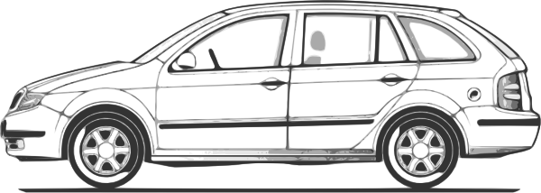 Car side profile clipart black and white clip art transparent library Car Compact Fabia Side View Clip Art at Clker.com - vector clip art ... clip art transparent library
