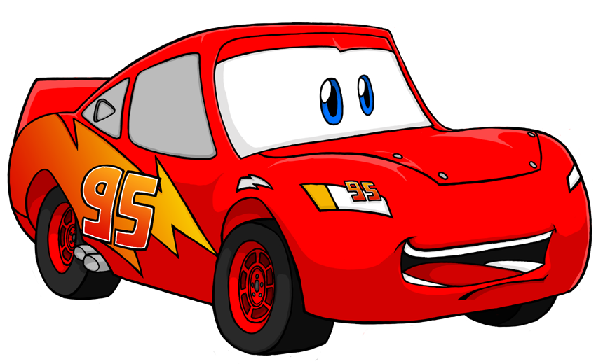 Car side view clipart image transparent Best Lightning Mcqueen Clipart #19830 - Clipartion.com image transparent