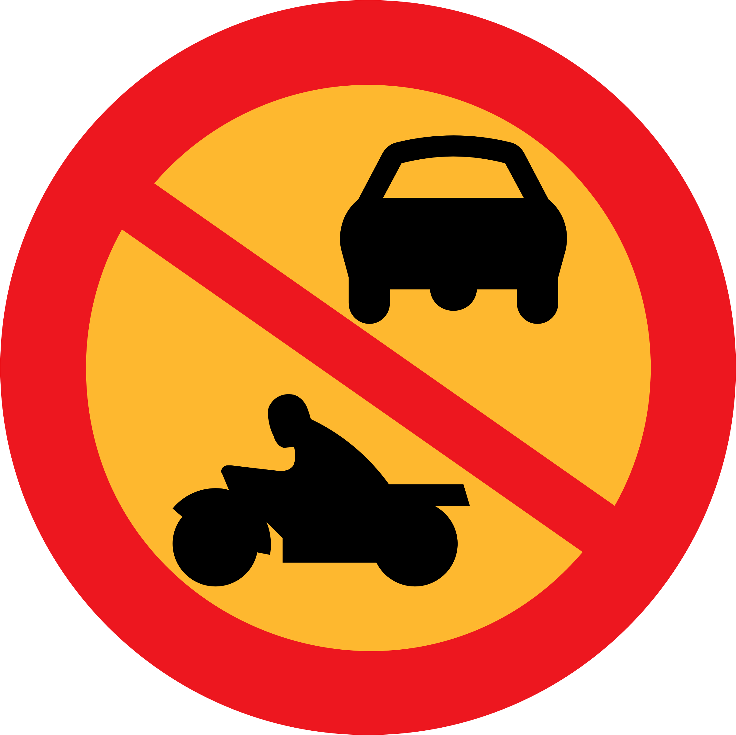 Car sign clipart jpg freeuse download Clipart - No Motorbikes or cars jpg freeuse download